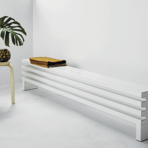 Hot water radiator / aluminum / contemporary / bench ELEMENTS: SOHO by Ludovica & Roberto Palomba TUBES