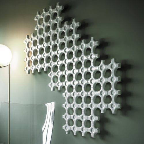 Hot water radiator / electric / aluminum / original design ELEMENTS: ADD-ON by Satyendra Pakhalé  TUBES