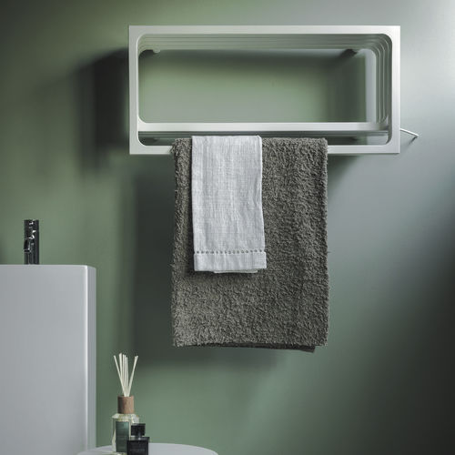 Hot water towel radiator / electric / steel / contemporary ELEMENTS: MONTECARLO by Peter Jamieson TUBES