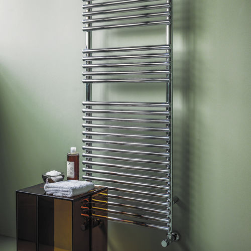Hot water towel radiator / electric / steel / contemporary BASICS: BATH25 TUBES