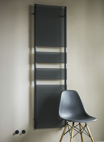 Hot water towel radiator / electric / steel / contemporary BASICS: COLOR X TUBES