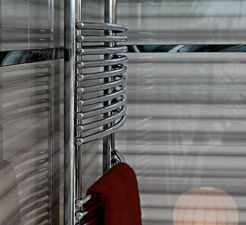 Hot water towel radiator / electric / steel / contemporary BASICS: BATH CURVO TUBES