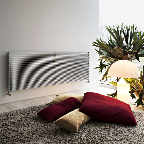 Hot water radiator / stainless steel / contemporary / horizontal BASICS: IXSTEEL TUBES