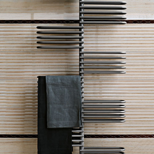 Hot water towel radiator / steel / contemporary / vertical EXTRAS: KEY TUBES