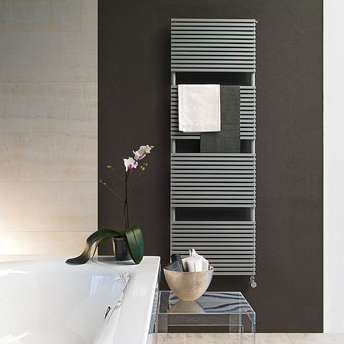 Hot water towel radiator / electric / steel / contemporary BASICS: KUBIK  TUBES