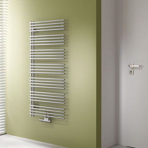 Hot water towel radiator / metal / contemporary / bathroom DIVEO KERMI