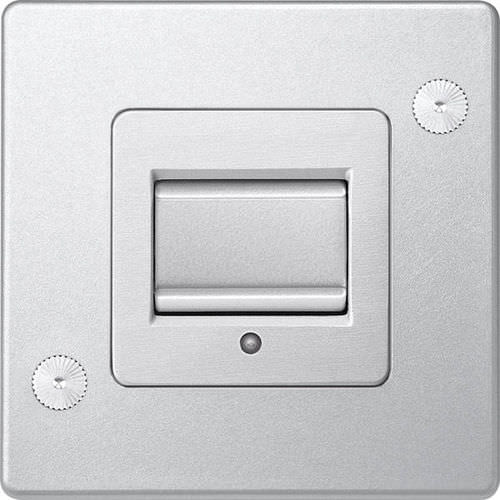 light switch / push-button / aluminum / contemporary