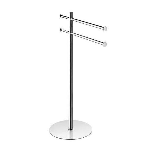 2-bar towel rack / floor-standing / chrome-plated brass