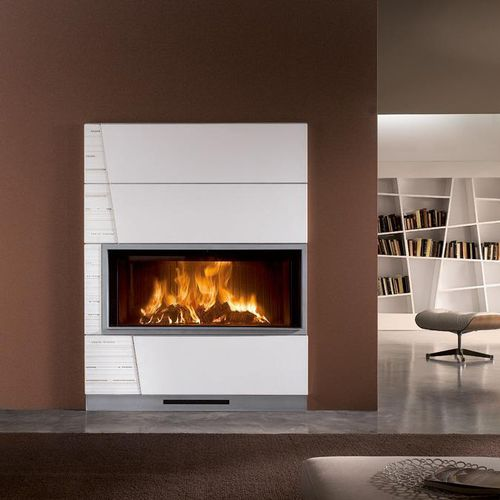wood-burning fireplace / gas / multi-fuel / contemporary