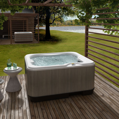 Built-in hot tub / above-ground / rectangular / 3-seater Lodge S Jacuzzi®