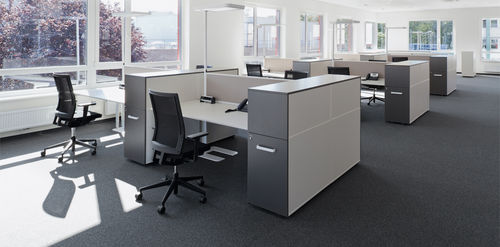 Workstation desk / laminate / contemporary / commercial CUBE_S by Christian Horner Bene GmbH
