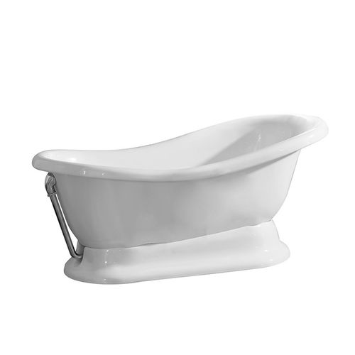 free-standing bathtub / oval / ceramic