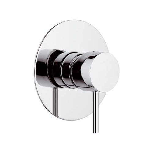 shower mixer tap / built-in / chrome-plated brass / bathroom