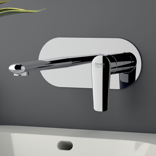 washbasin mixer tap / built-in / chrome-plated brass / bathroom