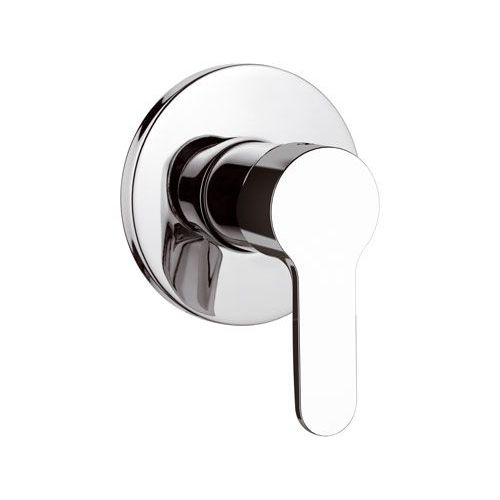 shower mixer tap / wall-mounted / built-in / chromed metal