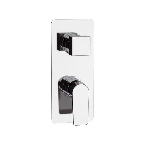 shower mixer tap / built-in / chromed metal / chrome-plated brass
