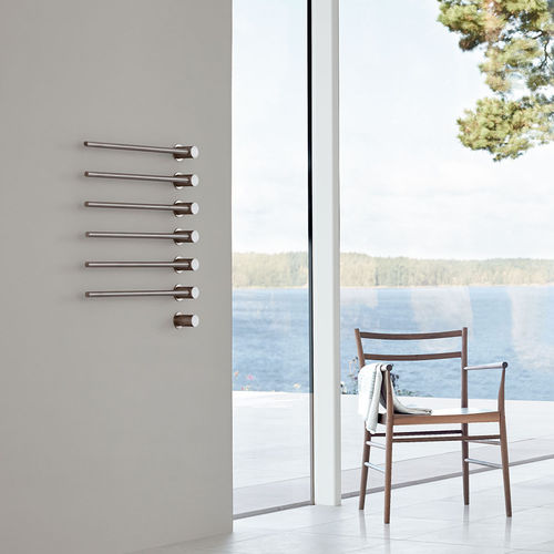 electric towel radiator / metal / contemporary / vertical