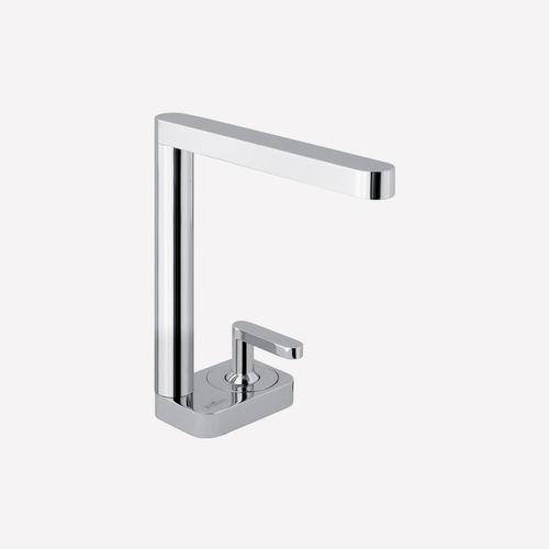washbasin mixer tap / chromed metal / bathroom / 2-hole