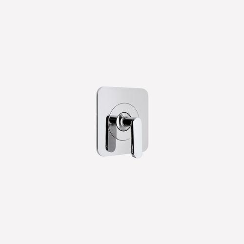 shower mixer tap / built-in / chromed metal / bathroom