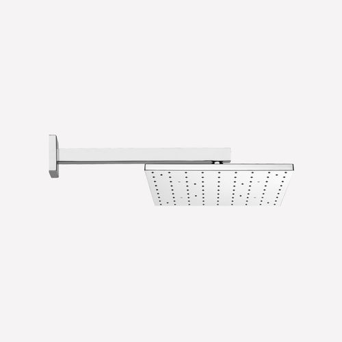 wall-mounted shower head / square / rain