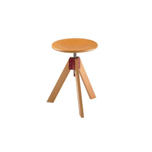 Contemporary stool / beech / varnished wood / swivel GIOTTO by De Pas & D'Urbino & Lomazzi Zanotta