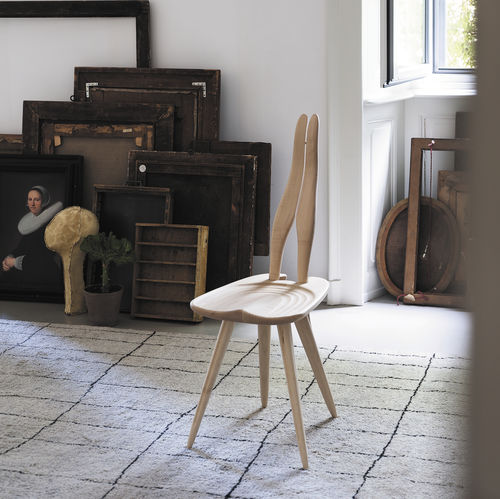 original design chair / maple / black / by Carlo Mollino
