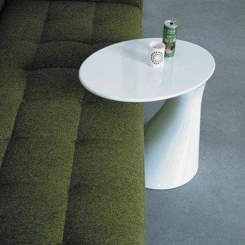 Contemporary side table / polypropylene / round / white TOD by Todd Bracher  Zanotta