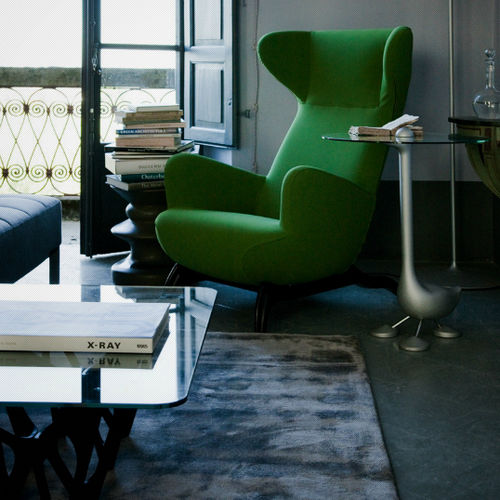 Contemporary armchair / fabric / wing / with removable cover ARDEA Zanotta