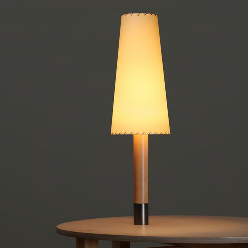 table lamp / contemporary / nickel / bronze
