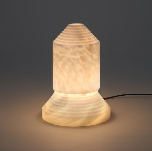 table lamp / original design / alabaster / handmade