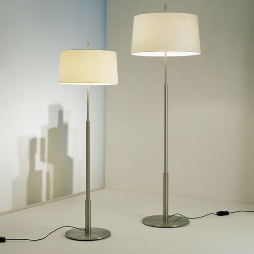 floor-standing lamp / contemporary / metal / linen