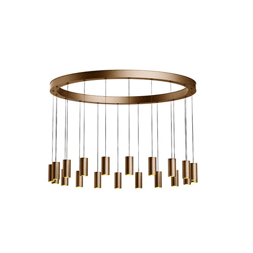 contemporary ceiling light / round / anodized aluminum / LED
