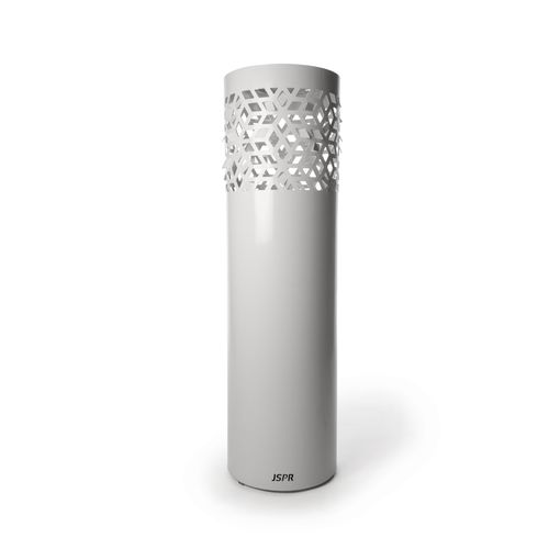Floor-mounted garden torch / steel FLAMES: DIAMOND by Jasper van Grootel JSPR