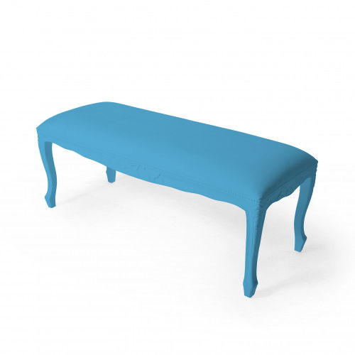 New Baroque design upholstered bench / abrasion-resistant rubber