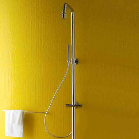 Thermostatic shower column / residential / with hand shower ZD1057 - R99673/ZD1056 - R99673 ZUCCHETTI RUBINETTERIA