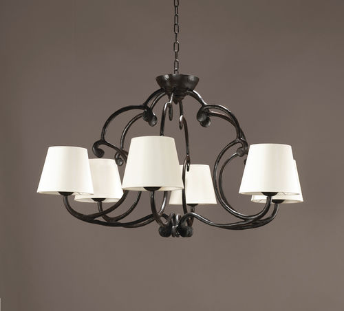 Traditional chandelier / bronze / fabric / incandescent CHAMBORD Oi diffusion