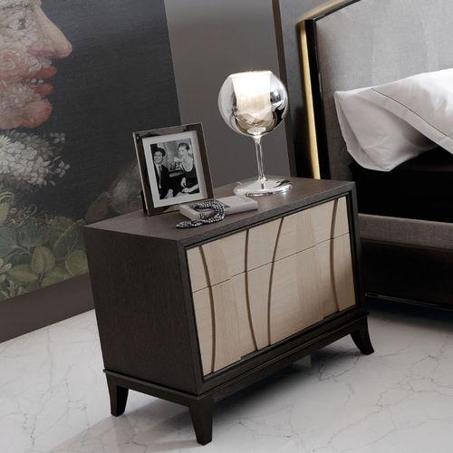 traditional bedside table / oak / walnut / rectangular