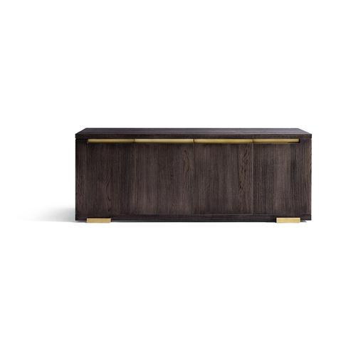 traditional sideboard / oak / brass