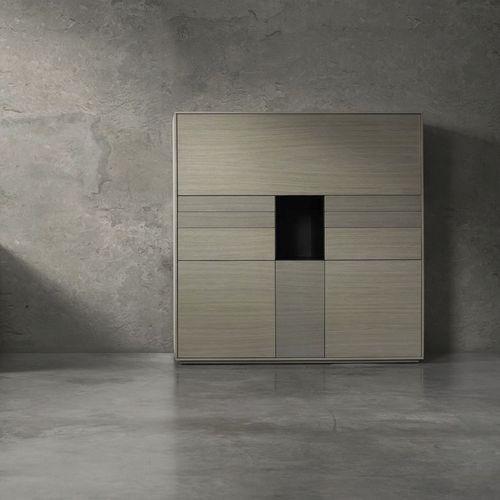 high sideboard / contemporary / oak / custom