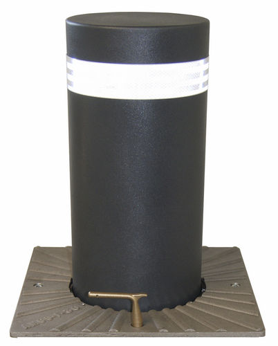 Access control bollard / cast iron / retractable / semi-automatic CYLINDRE ACIER AMCO