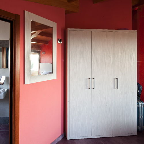 wooden wardrobe / with swing doors / for hotels