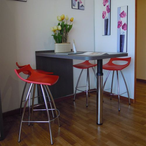 contemporary high bar table / metal / rectangular / for hotels