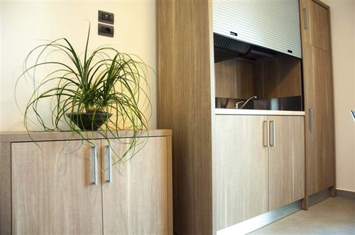wooden commercial kitchen - MOBILSPAZIO S.r.l