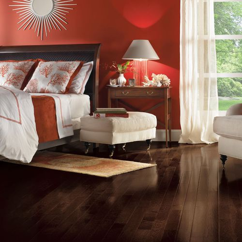 Solid parquet flooring / nailed / semi-gloss / FSC-certified HICKORY: FRONTIER SHADOW Armstrong flooring