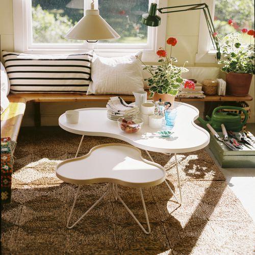 contemporary side table / oak / walnut / birch
