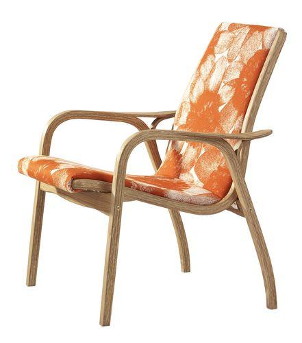 Scandinavian design armchair / beech / oak / fabric