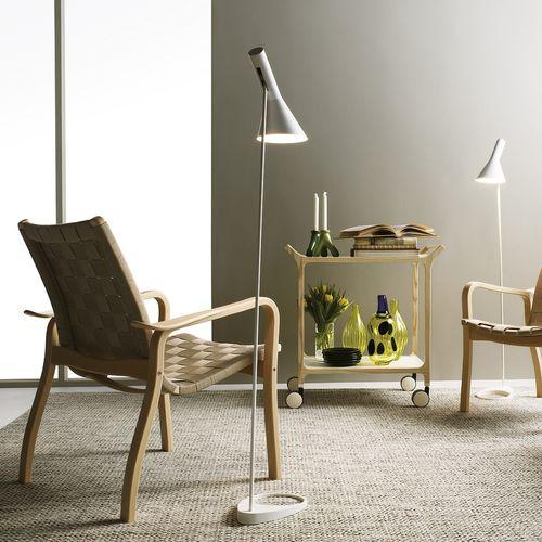 Scandinavian design armchair / beech / oak / leather