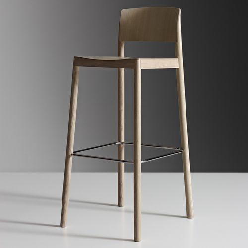 contemporary bar chair / oak / ash
