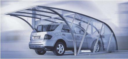 aluminum carport / polycarbonate