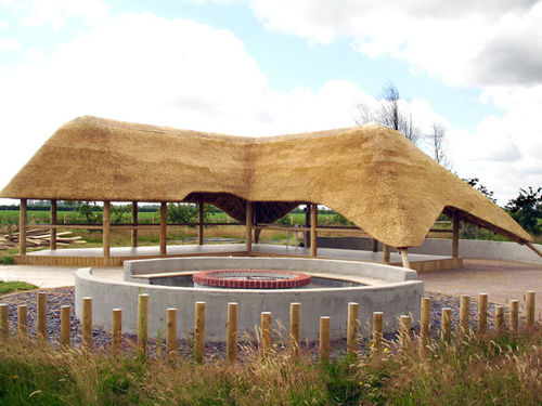 Wood gazebo / with thatched roof KRUGER LAPAS The Lapa Company   The Lapa Company